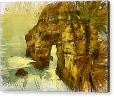 Horn Head Temple Arch Acrylic Print by Unknown