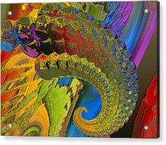 Horn Acrylic Print by Soumya Bouchachi