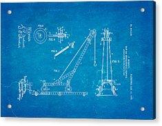 Hornby Meccano Patent Art 1906 Blueprint Acrylic Print by Ian Monk