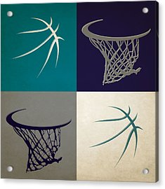 Hornets Ball And Hoop Acrylic Print by Joe Hamilton
