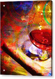 Hors D Age Cognac And Stogie Acrylic Print by Wingsdomain Art and Photography