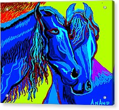 Horse-7 Acrylic Print by Anand Swaroop Manchiraju