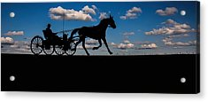 Horse And Buggy Mennonite Acrylic Print