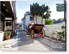 Horse And Buggy Ride St Augustine Acrylic Print by Michelle Wiarda