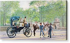 Horse And Carriage Acrylic Print by Anthony Butera