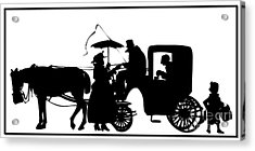 Acrylic Print featuring the digital art Horse And Carriage Silhouette by Rose Santuci-Sofranko