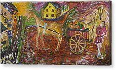 Horse And Cart Acrylic Print by Dozel Lake