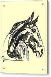 Acrylic Print featuring the painting horse - Apple digital by Go Van Kampen