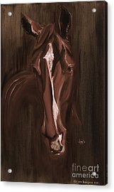 Horse Apple Warm Brown Acrylic Print