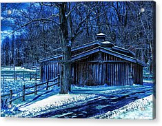 Horse Barn Acrylic Print by Skip Tribby