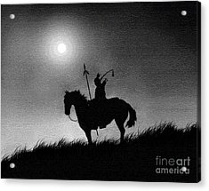 Horse Brave Acrylic Print by Robert Foster