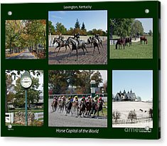 Horse Capital Of The World Acrylic Print by Roger Potts