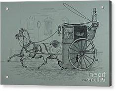Horse Drawn Cab 1846 Acrylic Print