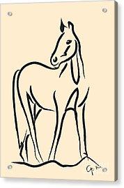 Horse - Grace Acrylic Print