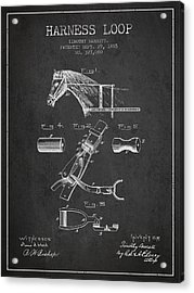 Horse Harness Loop Patent From 1885 - Dark Acrylic Print by Aged Pixel