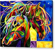 Horse Hues Acrylic Print by Sherry Shipley