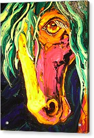 Horse Acrylic Print by Isabelle Gervais