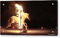 Acrylic Print featuring the photograph Horse On Fire by Stwayne Keubrick