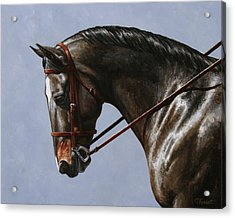 Horse Painting - Discipline Acrylic Print by Crista Forest