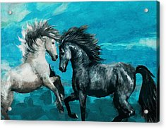 Horse Paintings 011 Acrylic Print by Catf