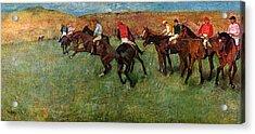 Horse Race Before The Start Acrylic Print by Edgar Degas