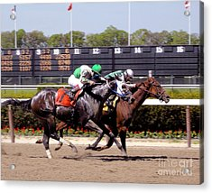 Horse Race - Close To The Finish Line Acrylic Print