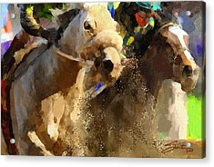 Horse Race Acrylic Print