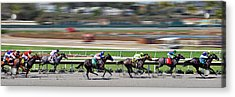 Horse Racing Acrylic Print by Christine Till