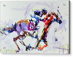 Horse Racing Print Acrylic Print