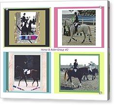 Horse Rider Group 2 Acrylic Print