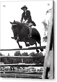 Horse Show Jump Acrylic Print by Underwood Archives