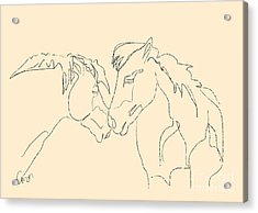 Horse - Together 3 Acrylic Print