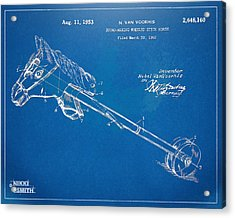 Horse Toy Patent Artwork 1953 Acrylic Print by Nikki Marie Smith