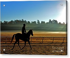 Horse Training At The Winter Colony Acrylic Print