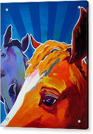 Horse - We Come In Peace Acrylic Print by Alicia VanNoy Call