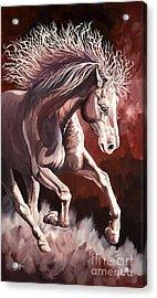 Horse Wild Fire Acrylic Print