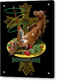 Acrylic Print featuring the digital art Horseflesh by Scott Ross