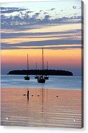 Horsehoe Island Sunset Acrylic Print by David T Wilkinson