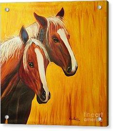 Horses Acrylic Print by Anastasis  Anastasi