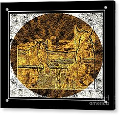 Horses -  Brass Etching Acrylic Print
