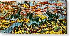 Horses Frolic Above The Sea Acrylic Print by Carol Law Conklin