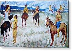 Horses On Beach Acrylic Print