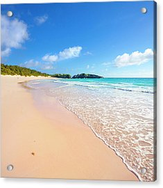 Horseshoe Bay Beach, Caribbean Sea Acrylic Print by Slow Images