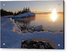 Horseshoe Bay Island Sunrise At Minus 20 Acrylic Print by Sandra Updyke