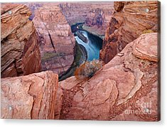 Acrylic Print featuring the photograph Horseshoe Bend At Dawn by Mae Wertz