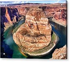 Horseshoe Bend In Arizona Acrylic Print