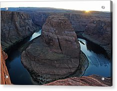 Horseshoe Bend Acrylic Print by Robert  Moss