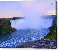 Horseshoe Falls Sunset In The Summer Acrylic Print