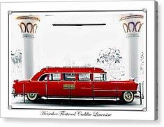 Horseshoe Fleetwood Cadillac Limousine Acrylic Print