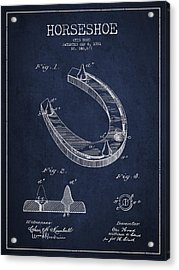 Horseshoe Patent Drawing From 1881 Acrylic Print